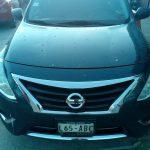 Vehiculo Versa robado, ha sido recuperado